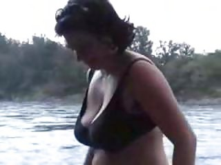 large tits grownup outside flashing