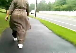 aged desi a-hole walking indian desi indian