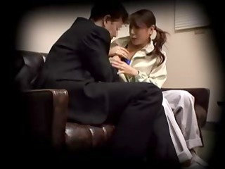 japanese abode lady creampied by her boss