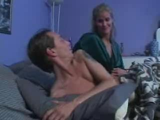 milf wakes son for difficult fuck