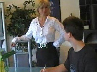 german milf teaches fresh guy