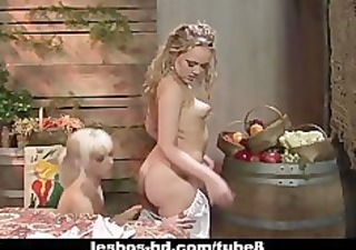 hottest lesbian golden-haired action that will