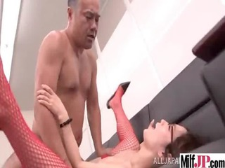 sexy desperate japanese mature babe own nailed