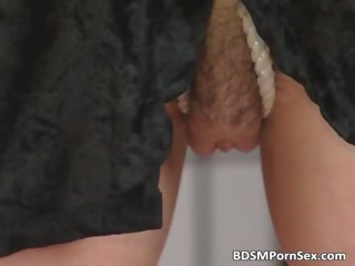 woman into lingerie takes tied and bondage part4