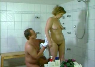german mama getting screwed in the bathroom