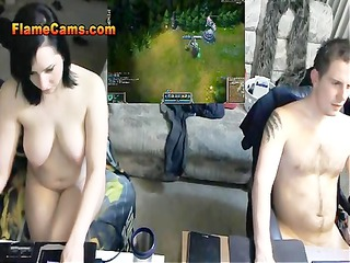 huge tits lady nude voyeur cam