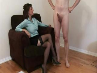 lingerie dressing on lady jerks a dudes dick