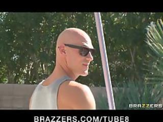 brunette milf into bikini fucks swimmingpool